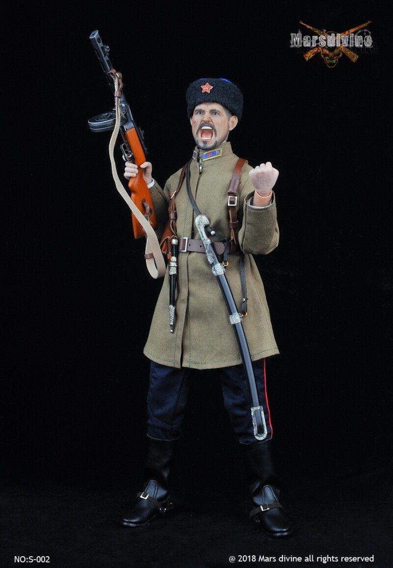 Marsdivine  1 6 Segunda Guerra Mundial No S003 Conjunto de Ropa de Caballería Soviética Cosaco