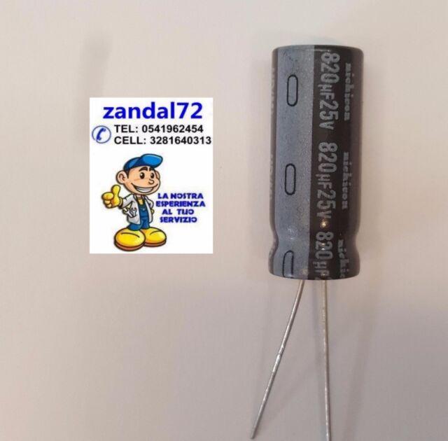 5 pz Condensatori elettrolitici 1500uF micro farad 25V volts 105°