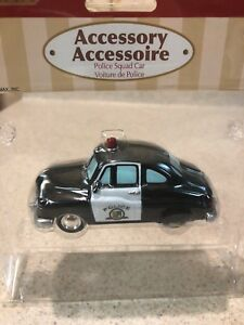 """LEMAX VILLAGE 84833 POLICE SQUAD CAR"""" New In Package"""