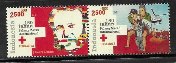 2013 L'indonésie-sg 3554/3555-croix Rouge-umm