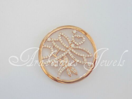 SMALL GENUINE CRYSTAL DRAGONFLY COIN//MONEDA FOR MI STERLINA MILANO NECKLACE