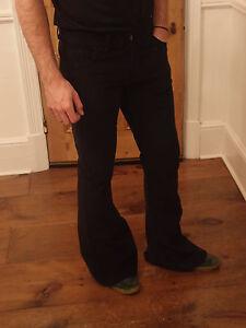 homme velours c tel pantalon patte d 39 eph vas noir. Black Bedroom Furniture Sets. Home Design Ideas