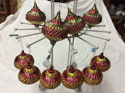 Roman Christmas Ornaments.New Set Of 10 Roman Inc Glass Christmas Ornaments 4 75 X 3 75 In Retail 130 89945486537 Ebay