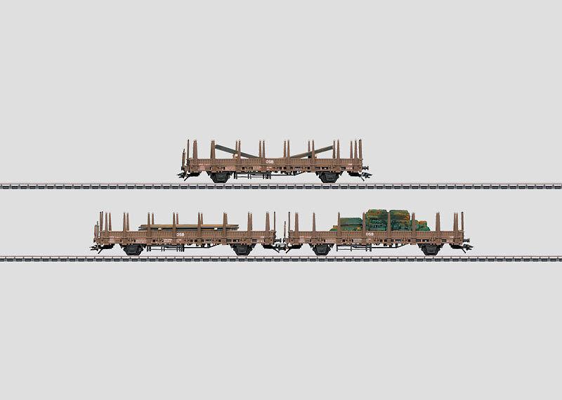 46922- Set di vagoni merci. KBS 443   NUOVO in scatola originale
