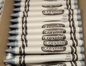 72 NEW CRAYOLA SILVER CRAYONS BULK LOT FOR COLORING or MELTDOWN ART !!!