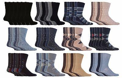 12 Pairs Mens SockShop BIGFOOT Gentle Grip Non Elastic Cotton Socks Size 6-11 uk