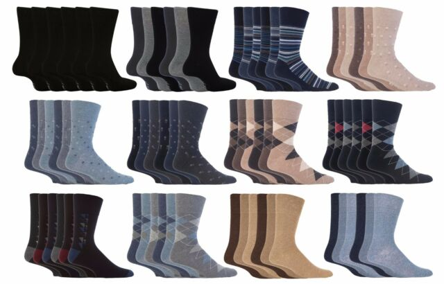 12 Pairs Mens Non Elastic Cotton Socks Comfort Grip Diabetic 6-11 Big Foot 10-13