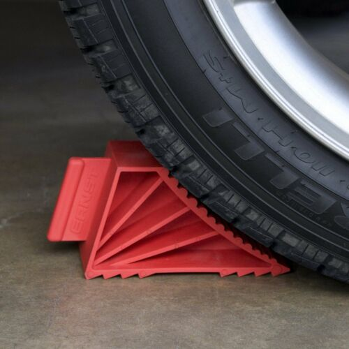 Ernst Manufacturing 980 Red High-Grip Wheel Chocks Set of 2