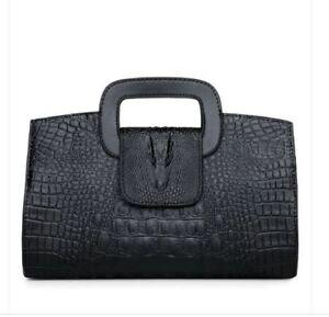 Borsa  pochette nero fashion moda a mano simil pelle pochette 2098