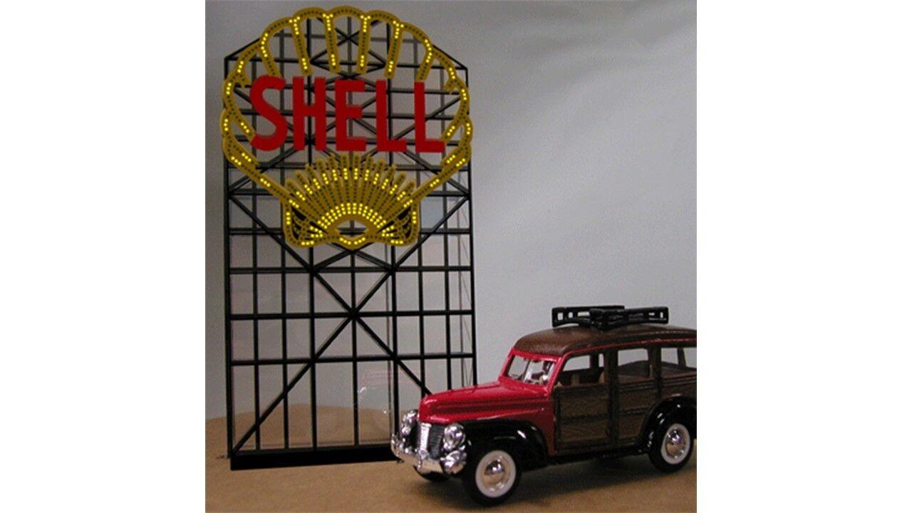 7782 Enseigne lumineuse panneau publicite SHELL Miller 12cm