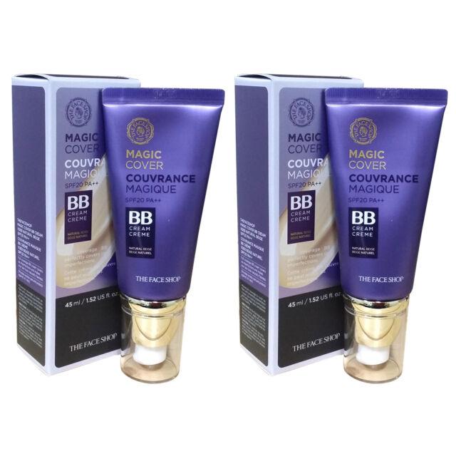THE FACE SHOP Magic Cover BB Cream 45ml # V203 Natural Beige 2pcs wholesale