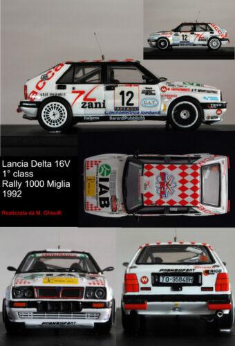 DECAL 1//43  LANCIA DELTA 16 V.VINCENTE RALLY MILLE MIGLIA 1992 COLBRELLI-BERARDI