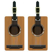 Acoustic Guitar Strings Luggage Suitcase Carry-On ID Tags Set of 2