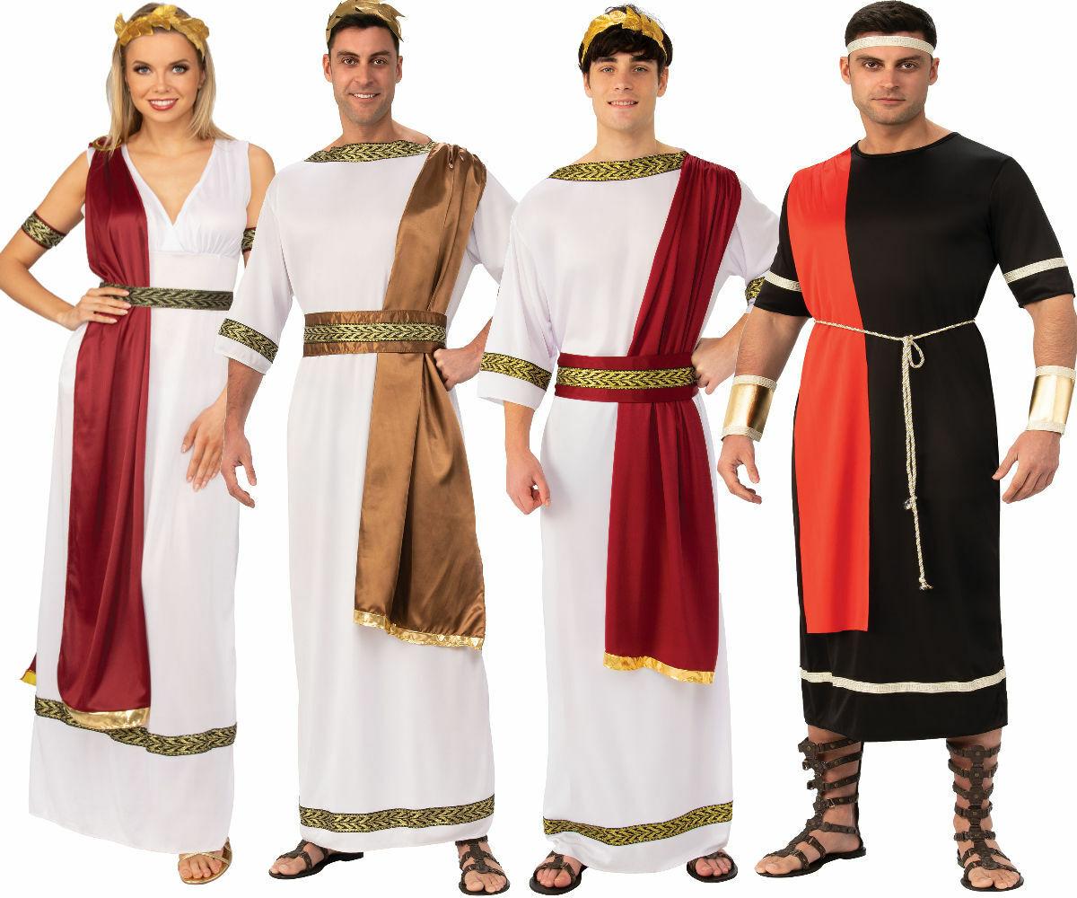 Greek Roman Goddess Toga Fancy Dress Costume Ladies Spartan Warrior Princess
