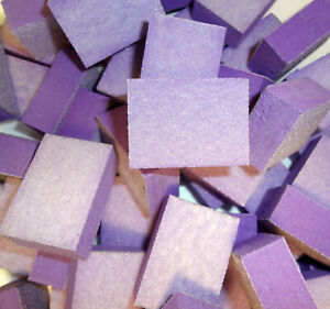40pc-Nail-Buffer-80-80-White-Grit-Purple-Sanding-Mini-Small-Buffer-Blocks-2-Side