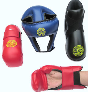 Itf Haute Qualité-taekwondo Sparring Pads-pour La Tête, Mains, Bras, Pieds, Oreilles-afficher Le Titre D'origine Pour Convenir à La Commodité Des Gens