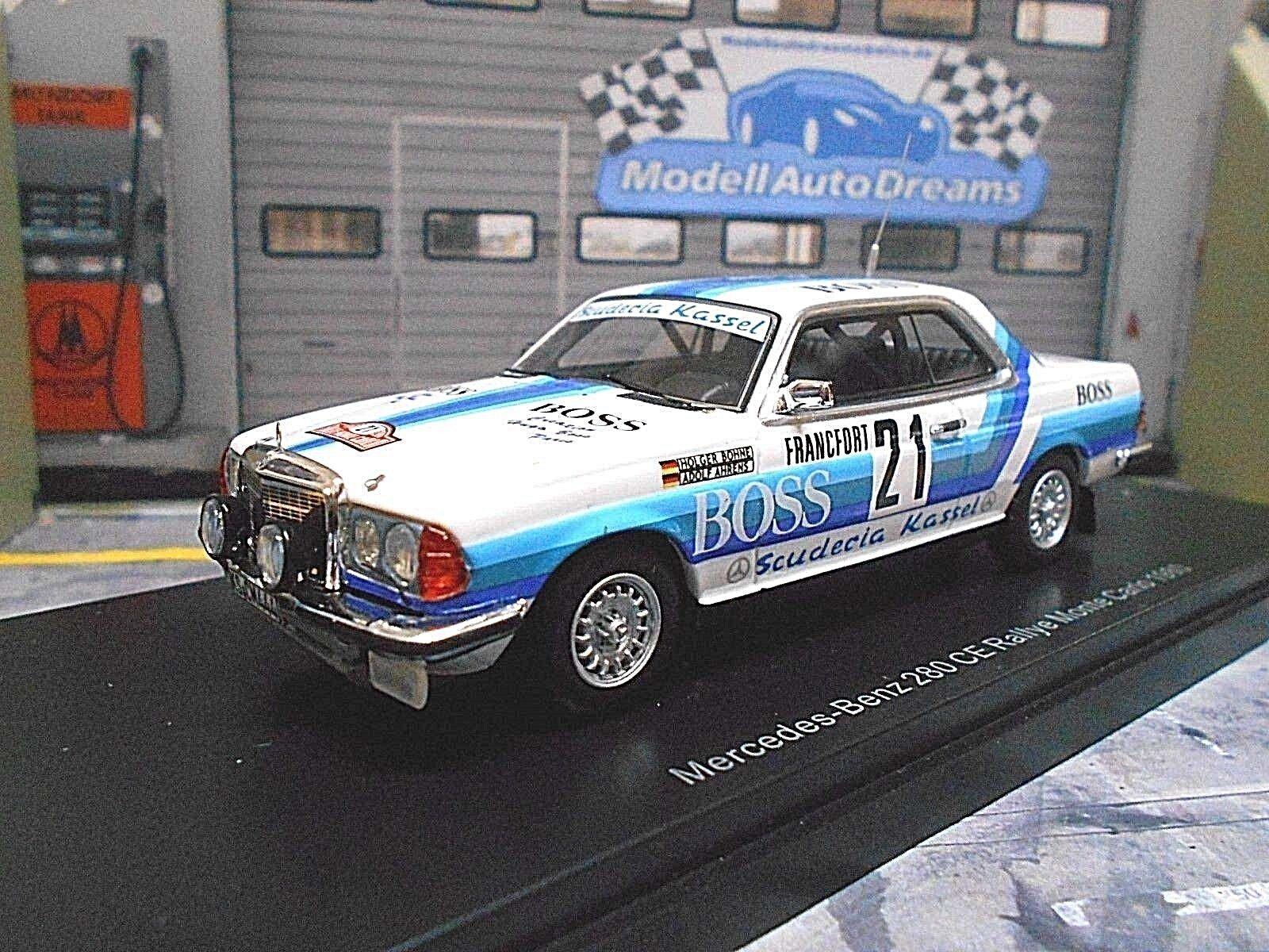 MERCEDES 280 CE W123 Rallye Monte Carlo  21 Bohne 1980 S. Kassel Boss NEO 1 43