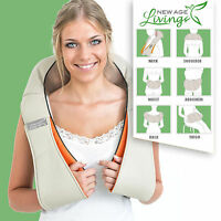 Shiatsu Kneading Shoulder Neck Leg Foot Lower Back Body Massager W/ Heat Usa