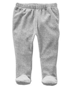 Gap Baby Girl Favorite Cotton Footed Pants Pull On Pink Gray Size 0-3 Months NWT