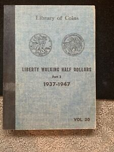 1941-47-AU-SILVER-WALKING-LIBERTY-HALVES-SHORT-SET-LIBRARY-OF-COINS-ALBUM