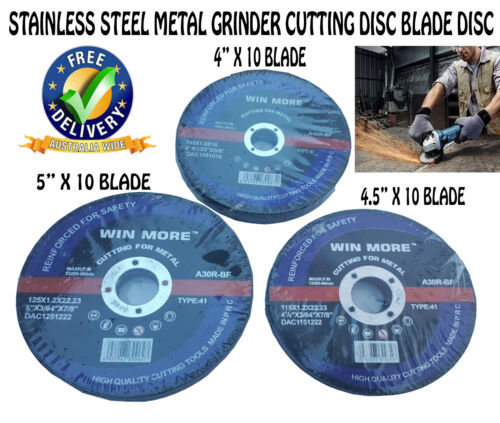 "10 PCS 4"" 4.5"" 5 INCH STAINLESS STEEL METAL WHEEL GRINDER CUTTING DISC BLADE"