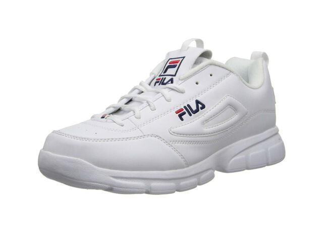sports shoes c0601 59d30 Fila Men s Disruptor SE Casual Shoe 1SX60022-166 - White Navy Red