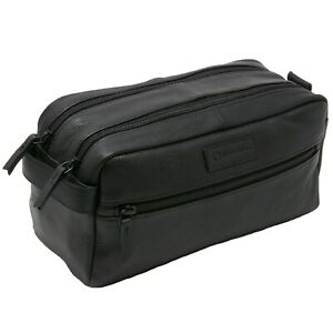 Alpine Swiss Sedona Toiletry Bag Genuine Leather Shaving Kit Dopp Kit Travel Case by Alpine Swiss