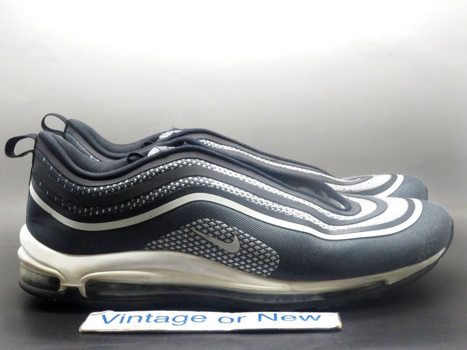 Men's Nike Air Max '97 Ultra '17 Black Pure Platinum Anthracite 918356-001 sz 13