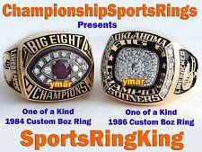 1984 & 1986 OKLAHOMA SOONERS BRIAN BOSWORTH OU BIG 8 CHAMPIONSHIP 14K & 10K RING