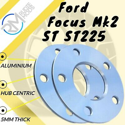 Ford Focus Mk2 inc ST RS 5x108 15mm Hubcentric Wheel Spacers 1 Pair ALLOY