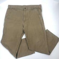 Bullwark FR Pants//Carpenter Men Sz.36x29-Cotton Bl-Gold Tan