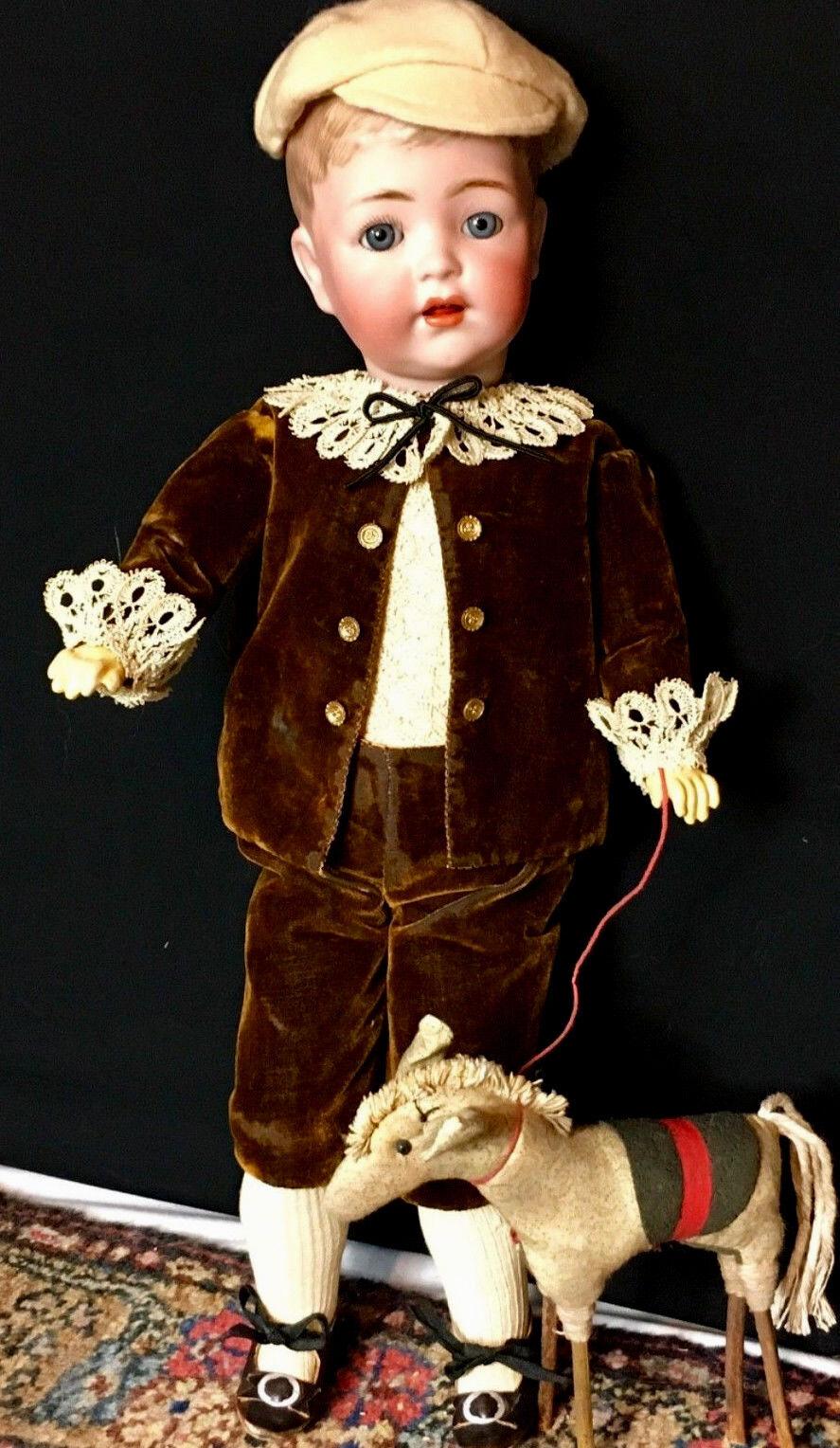 Raro 17  Niño K  R Simon Halbig-Ruth gaborko Collection-Antigua Muñeca 127-32