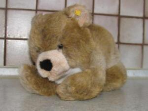 STEIFFTIER-junger-BAR-TEDDY-TEDDYBAR-in-grau-beige-mit-KF-von-STEIFF