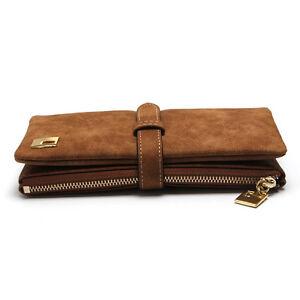 Women-Lady-Coffee-Leather-Clutch-Wallet-Long-PU-Card-Holder-Zipper-Purse-Handbag