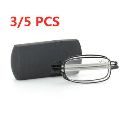 Haodasi Pince Nez Lesebrille 1.0 zu 3.5 Herren Frauen Leser Mini Clip Brillen