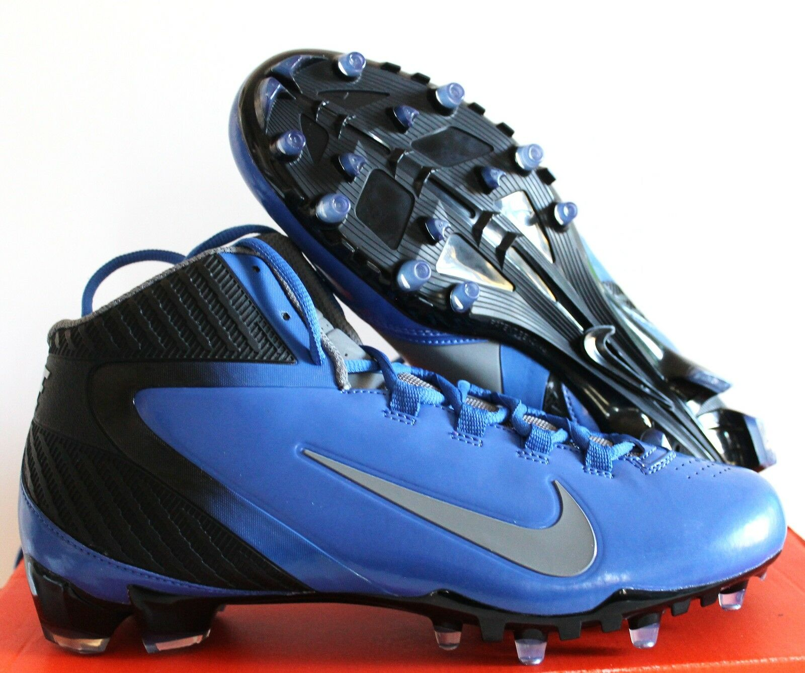 NIKE ALPHA SPEED iD FOOTBALL CLEAT blueE SZ 10.5 [541217 991]