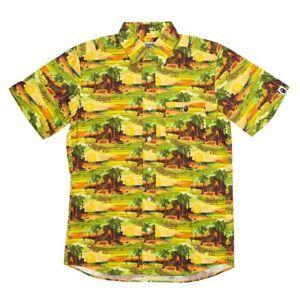 bfe9507d undefeated x a bathing ape men undftd bape island woven button shirt ...