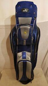 EDLE-KENTON-Golftasche-EDEL-Leicht-Golfbag-Cartbag-Blau-Silber-Golf-Stand-Bag