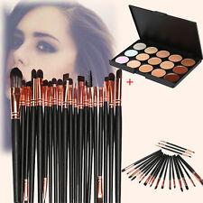 15 Colors Contour Face Cream Makeup Concealer Palette+ Pro 20 pcs Brush US STOCK