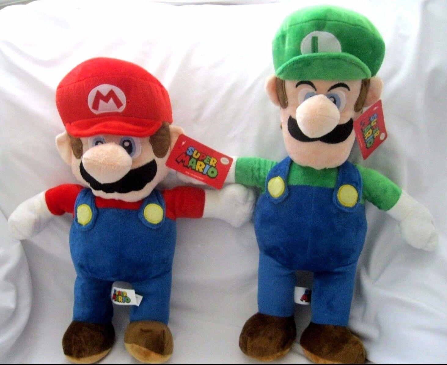 Super Mario Brothers Mario+Luigi 17 -19  Plush Combo-Super Mario Brothers-New