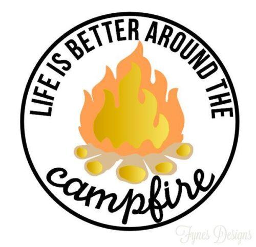 Camping vinyl sticker for skateboard luggage laptop tumblers car c