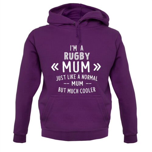 Team Sport Fan Hoodie // Hoody Player I/'m A Rugby Mum Mothers Day
