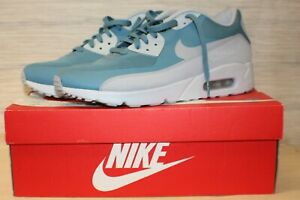 Mens Womens Nike Air Max 90 Ultra 2. 0 Running Shoes Essential Smoky Blue Pure Platinum Wolf Grey 875695 001 875695 001