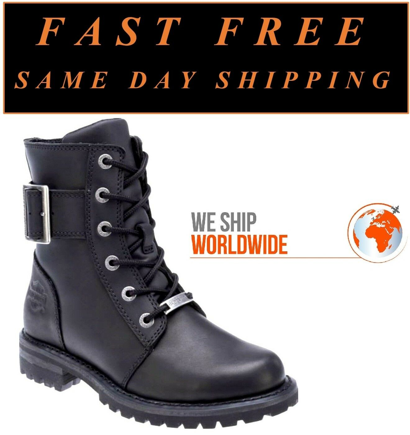 Harley-Davidson® D87086 Women's 6.25  Sylewood Leather Motorcycle Riding Boots