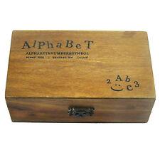 70pcs retro in legno di gomma superiore Minuscole Alfabeto Lettere Numeri Timbri Set