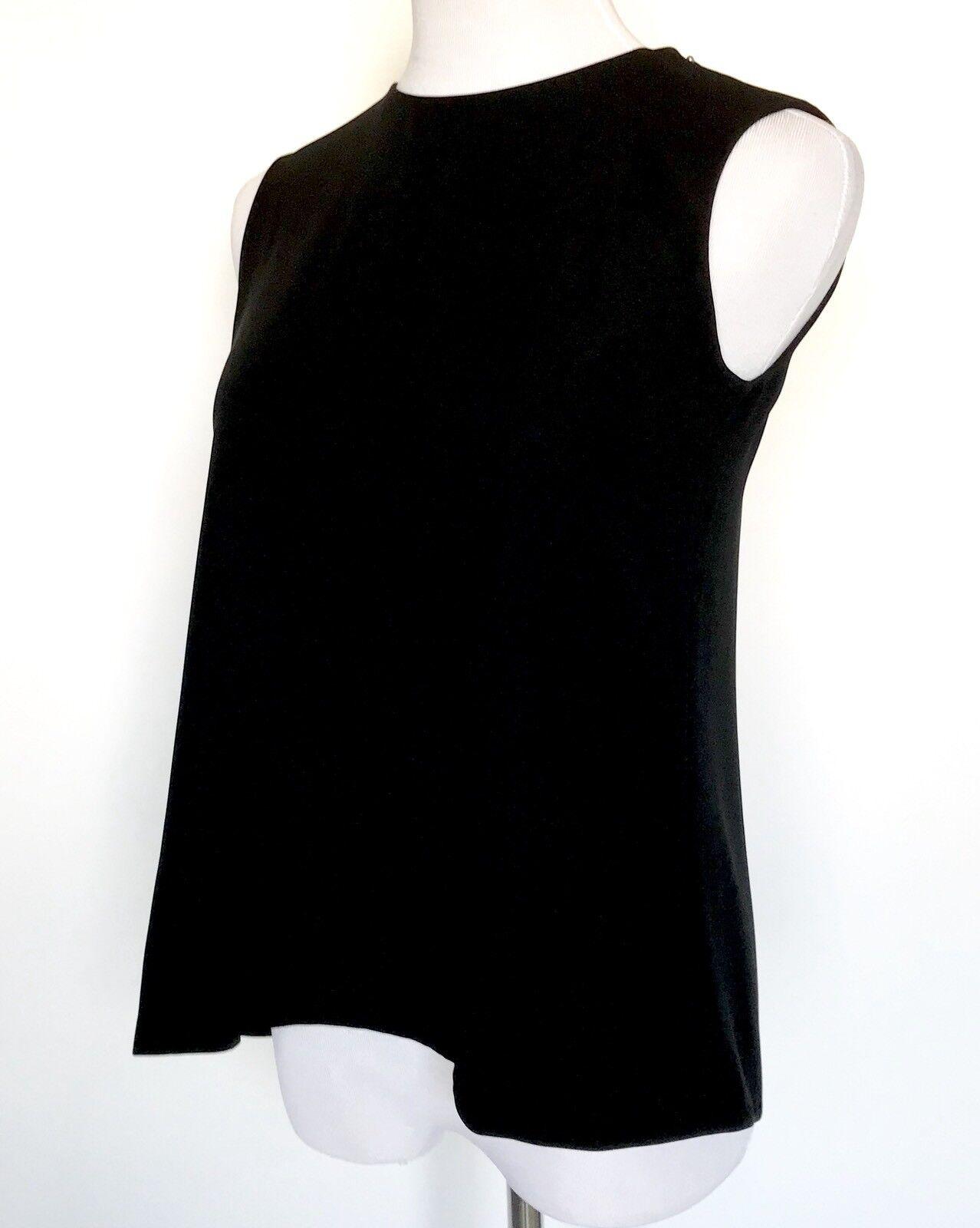 a5b89f90ff0317 Carolina Herrera schwarz Lace Panel Swing Top. NWT Retail Größe 4 Price  npkray538-Blusen,Tops & Shirts