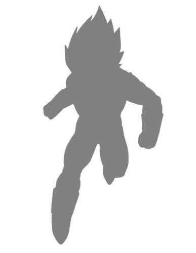 DIY Art Paint Reusable Stencil Silhouette Dragon Ball Z Super Saiyan Vegeta 2