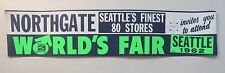 1962 Seattle Worlds Fair Century 21 BUMPER STICKER Northgate Mall mint unused