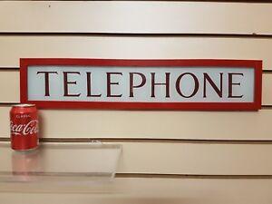 RED TELEPHONE BOX FRAMED TELEPHONE SIGN K6 , BOOTH, KIOSK