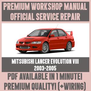 workshop manual service repair for mitsubishi lancer evolution rh ebay co uk mitsubishi lancer evolution 6 workshop manual mitsubishi lancer evolution 6 workshop manual